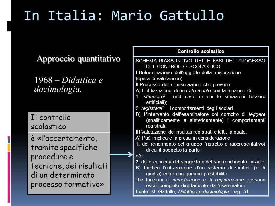 In Italia: Mario Gattullo