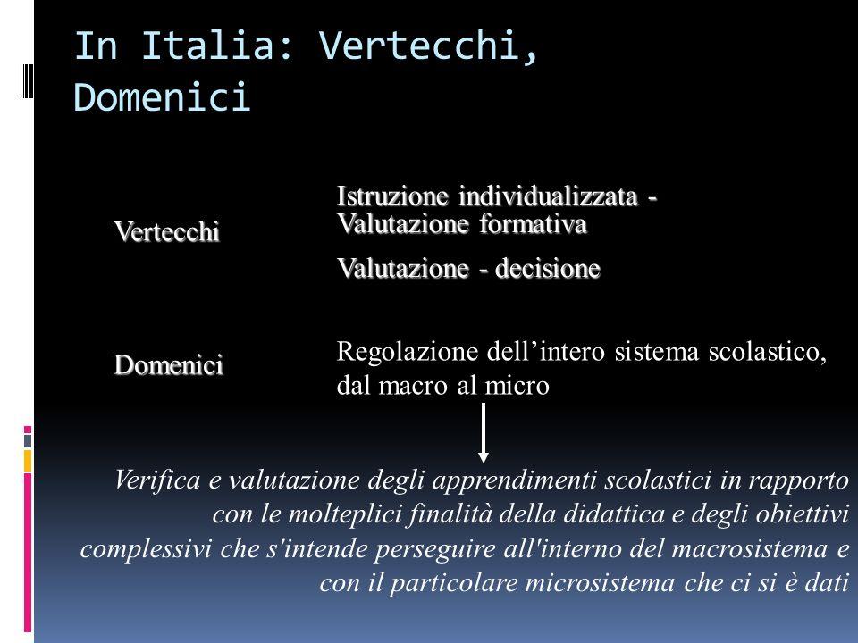 In Italia: Vertecchi, Domenici
