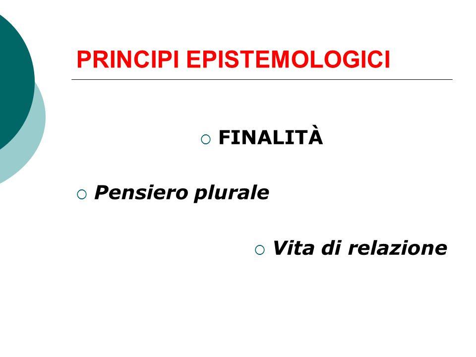 PRINCIPI EPISTEMOLOGICI