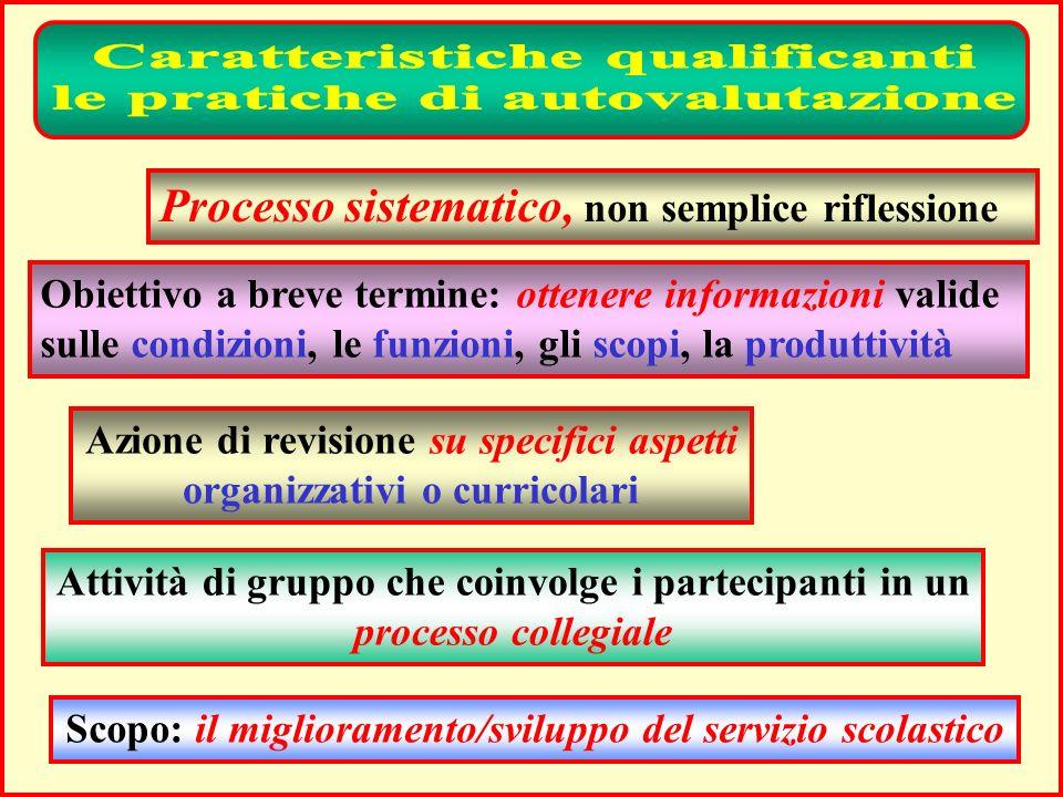Caratteristiche qualificanti le pratiche di autovalutazione