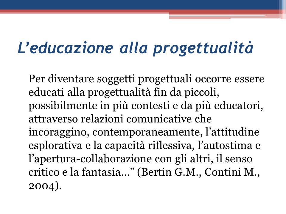 L'educazione alla progettualità