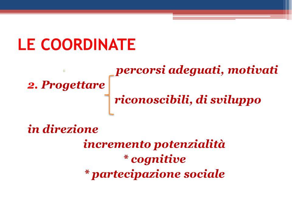 incremento potenzialità * partecipazione sociale