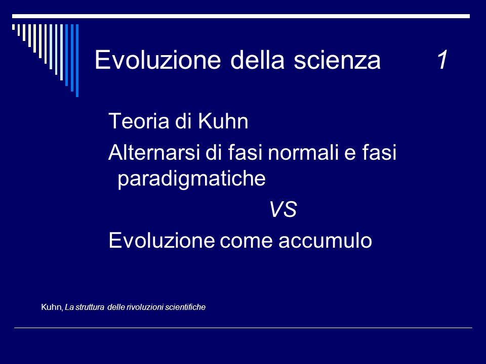 Evoluzione della scienza 1