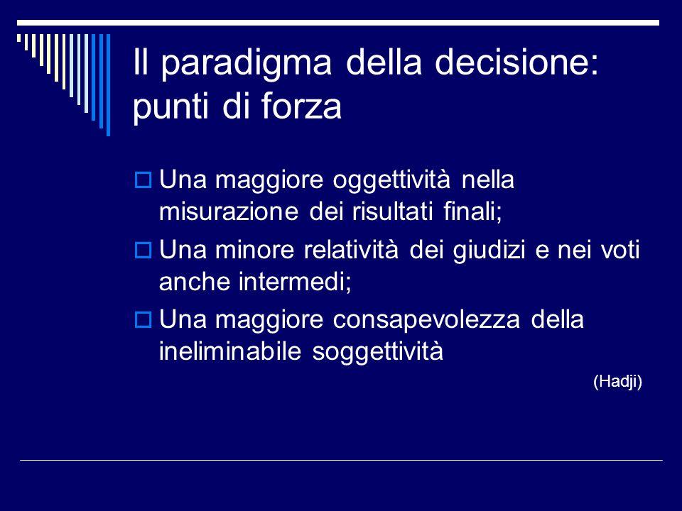 Il paradigma della decisione: punti di forza