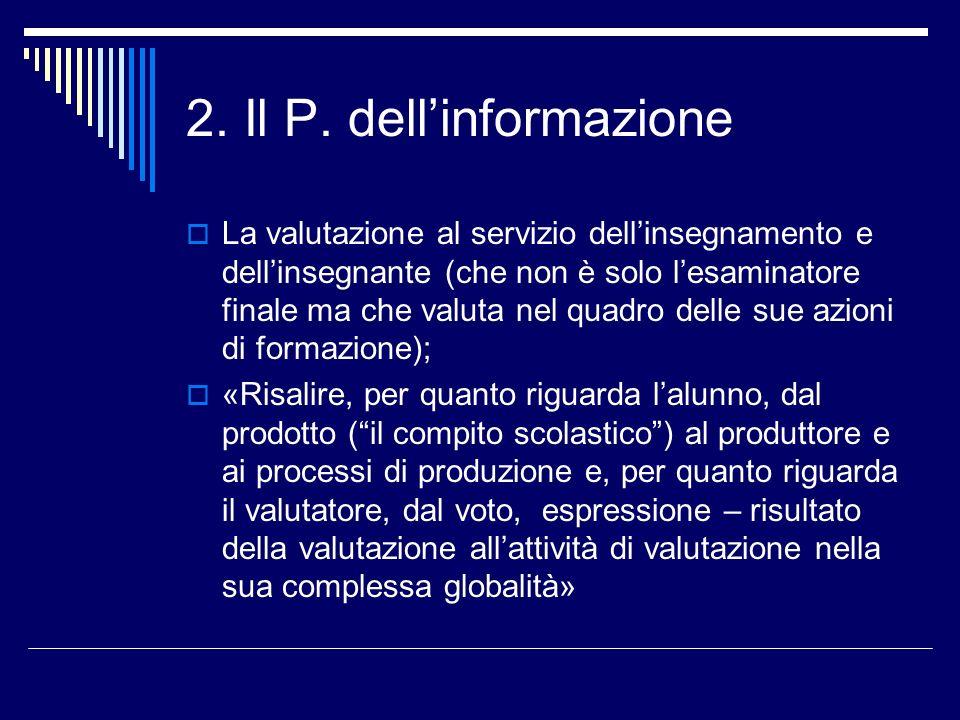 2. Il P. dell'informazione