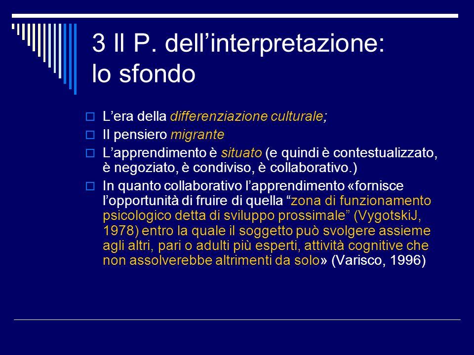 3 Il P. dell'interpretazione: lo sfondo