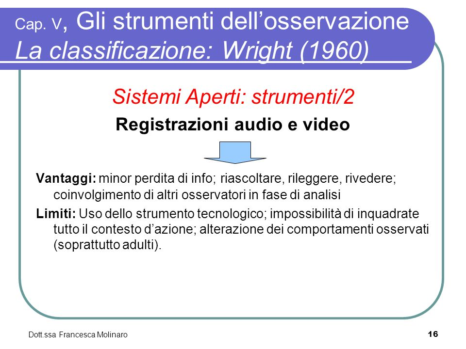 Registrazioni audio e video