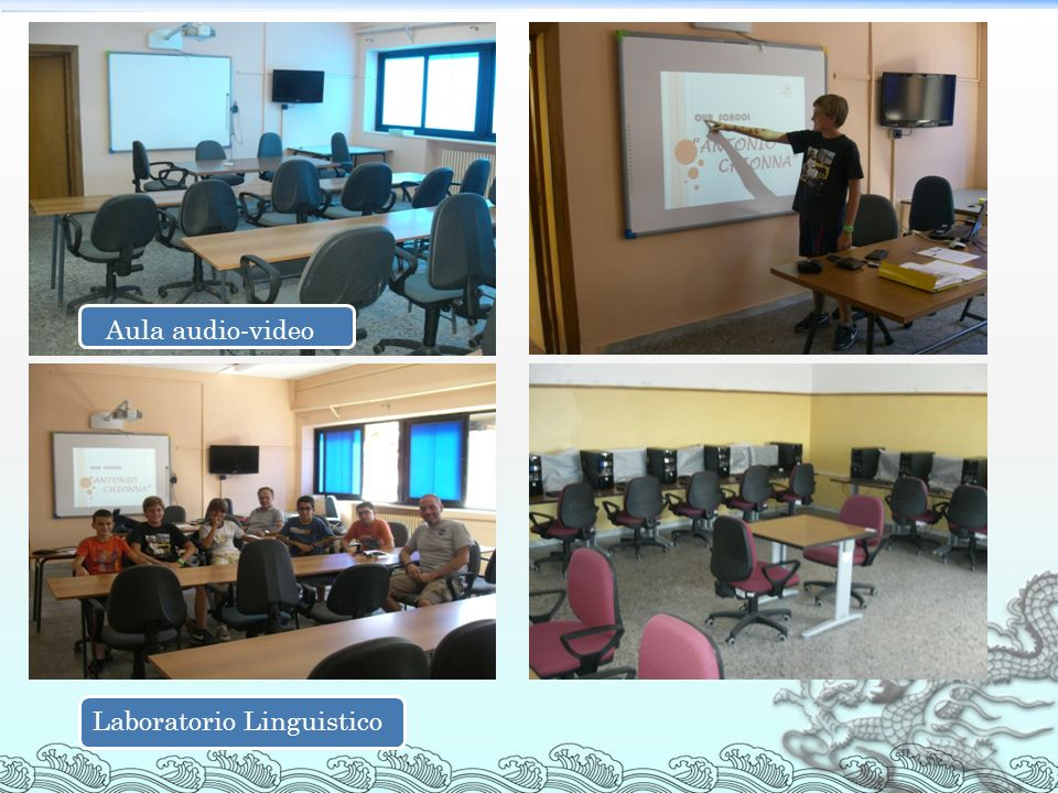 Aula audio-video Laboratorio Linguistico