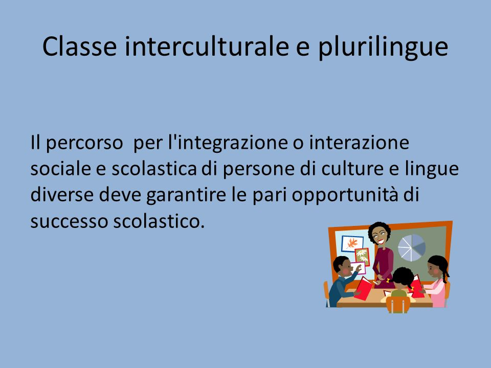 Classe interculturale e plurilingue