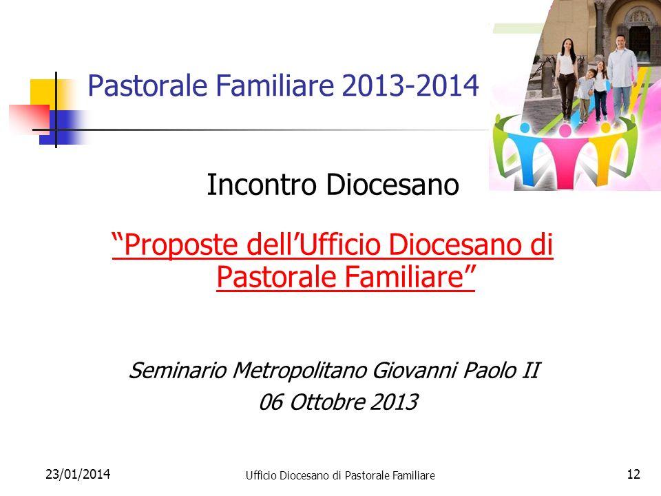 Proposte dell'Ufficio Diocesano di Pastorale Familiare
