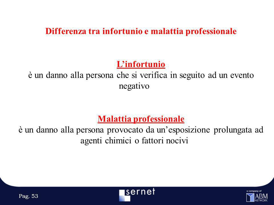 Differenza tra infortunio e malattia professionale