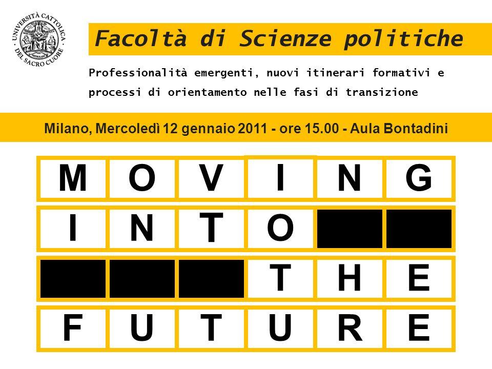 Milano, Mercoledì 12 gennaio 2011 - ore 15.00 - Aula Bontadini