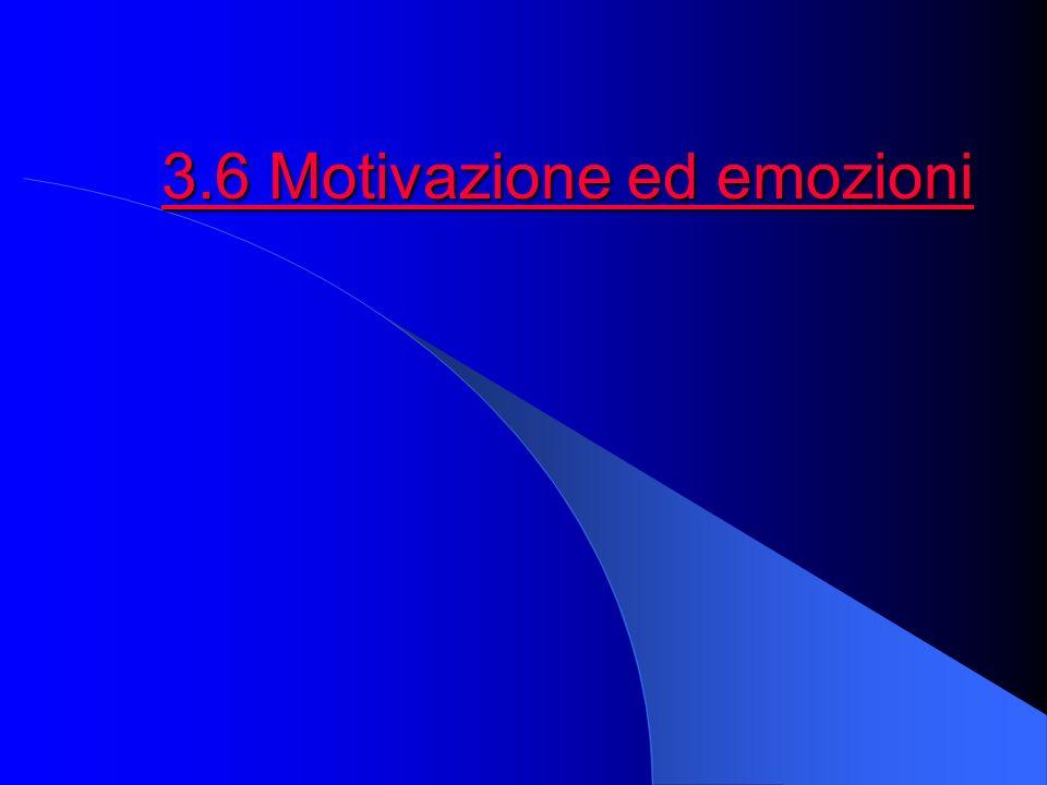 3.6 Motivazione ed emozioni