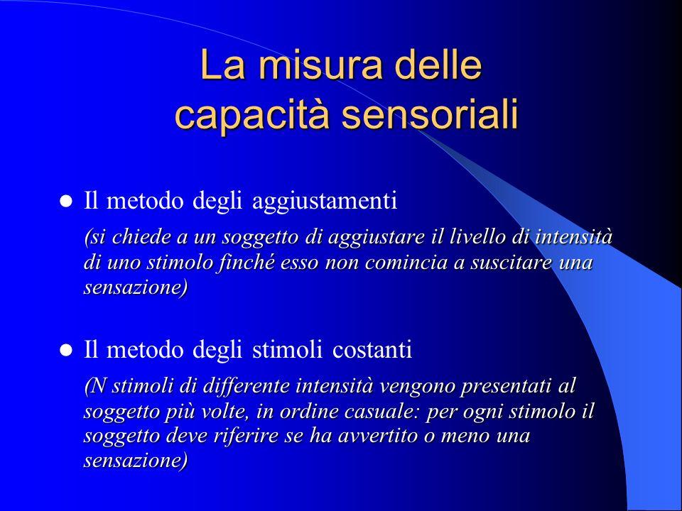 La misura delle capacità sensoriali