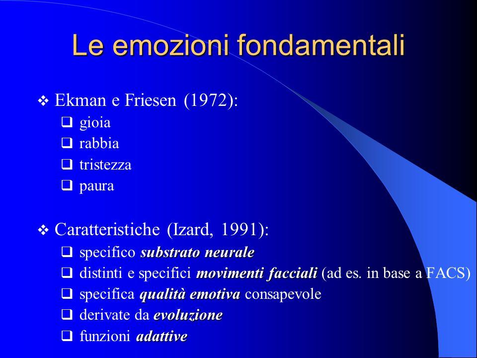 Le emozioni fondamentali
