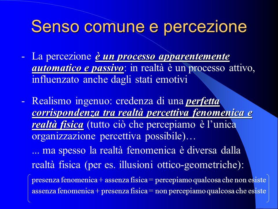 Senso comune e percezione