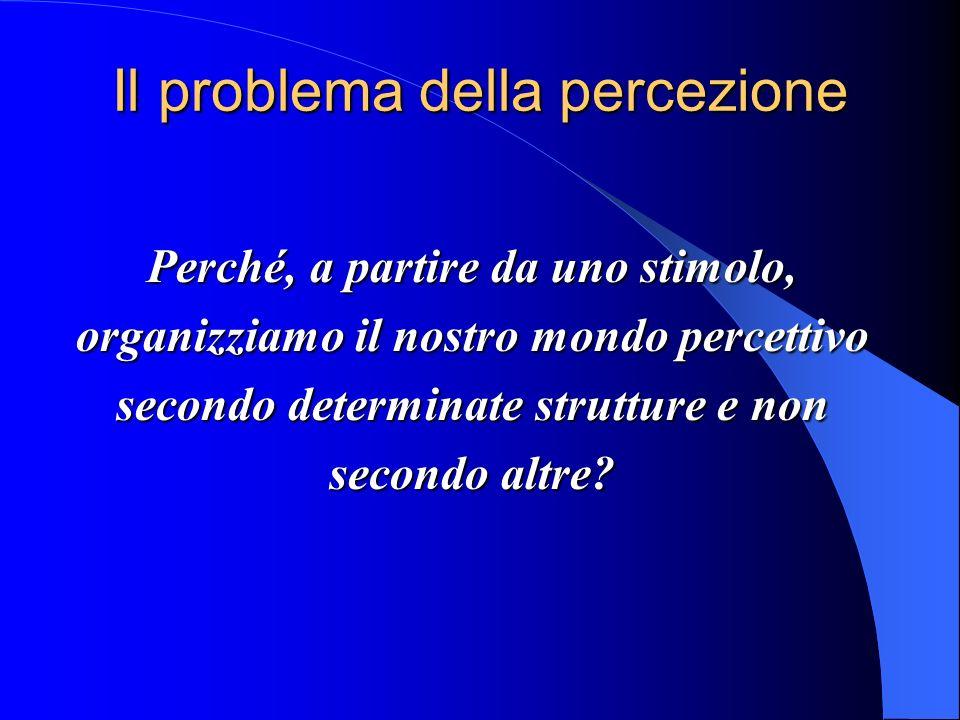 Il problema della percezione