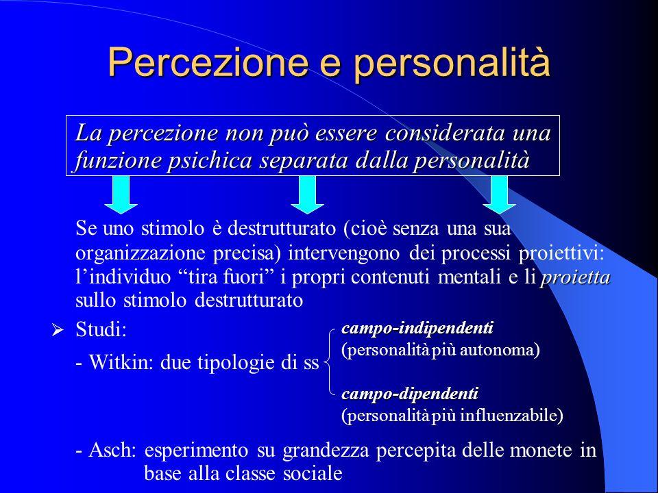 Percezione e personalità