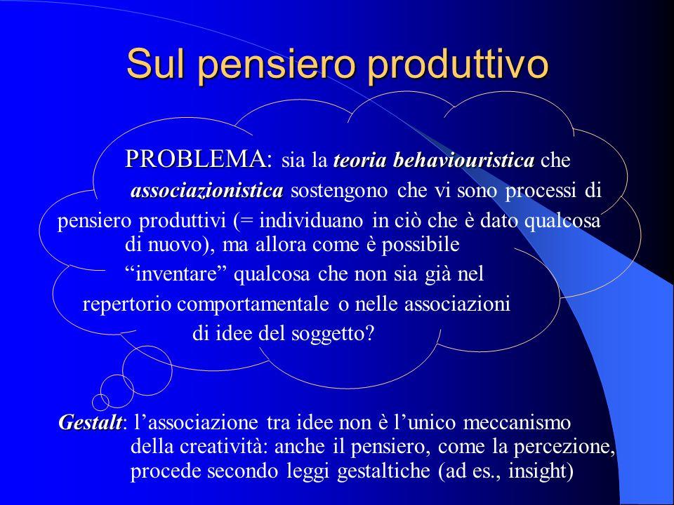 Sul pensiero produttivo