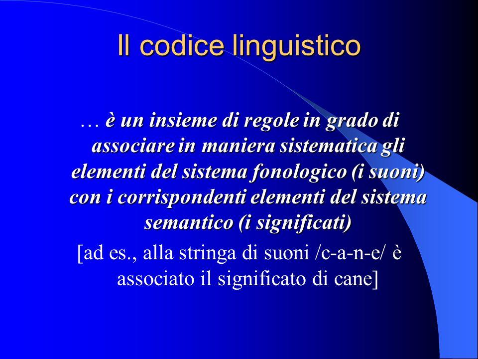 Il codice linguistico