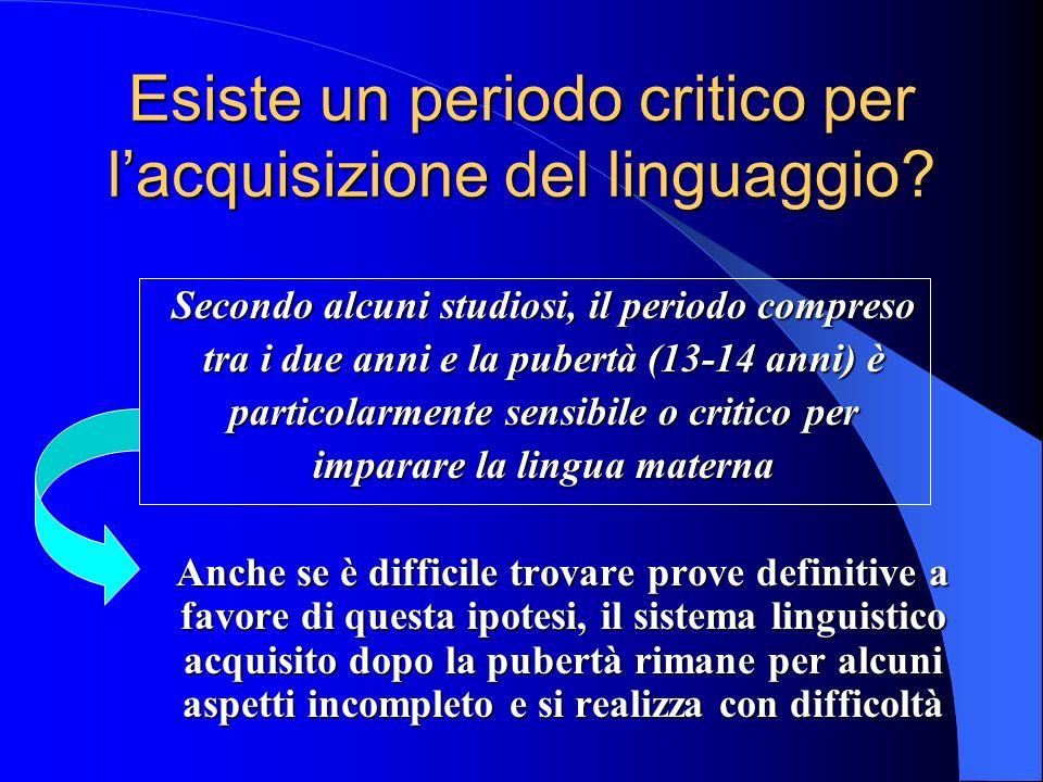 Esiste un periodo critico per l'acquisizione del linguaggio