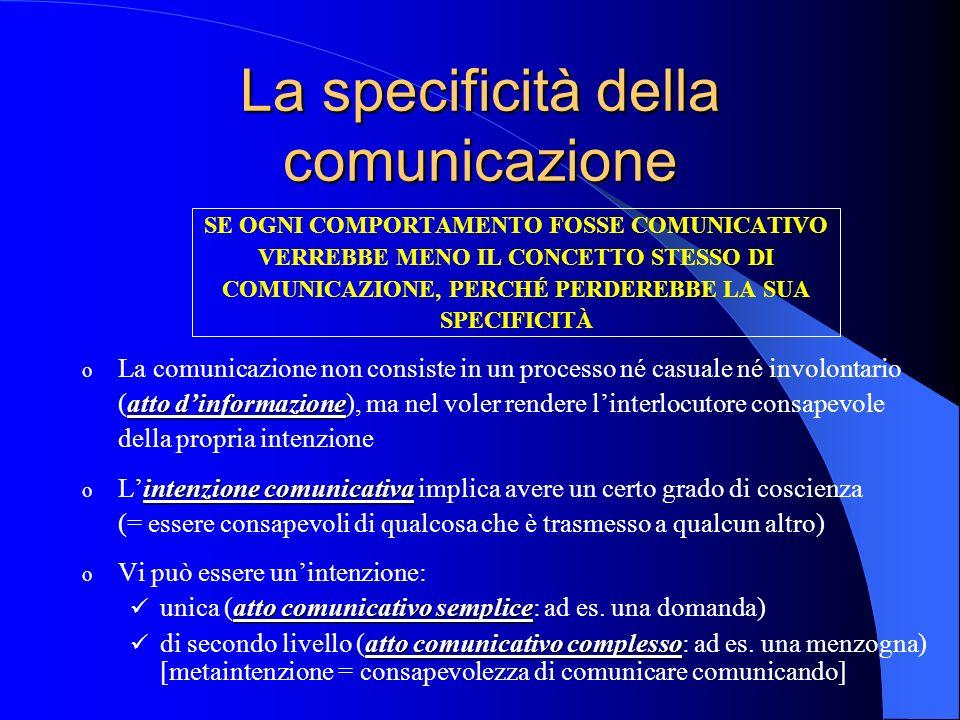 La specificità della comunicazione