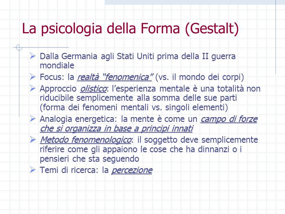 La psicologia della Forma (Gestalt)