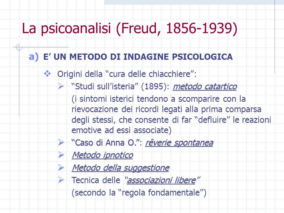 La psicoanalisi (Freud, 1856-1939)