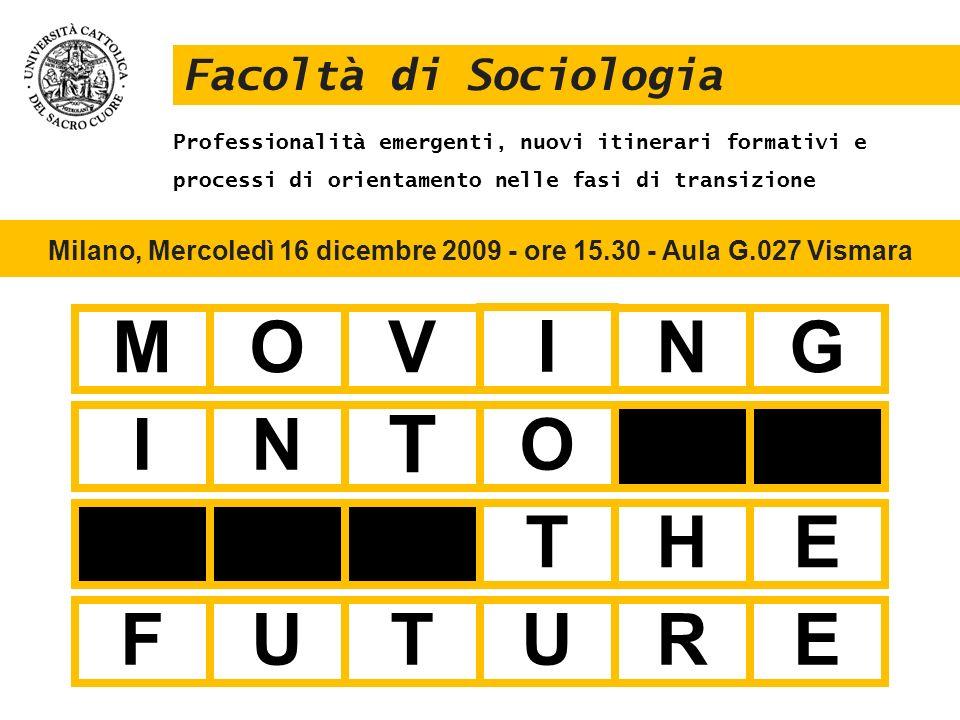 Milano, Mercoledì 16 dicembre 2009 - ore 15.30 - Aula G.027 Vismara
