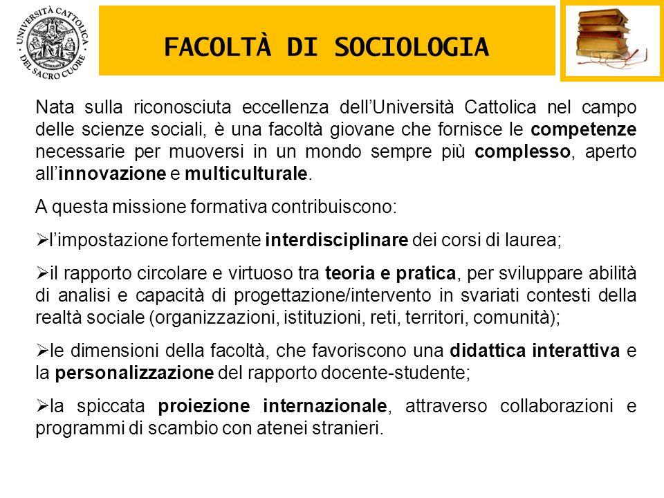 FACOLTÀ DI SOCIOLOGIA