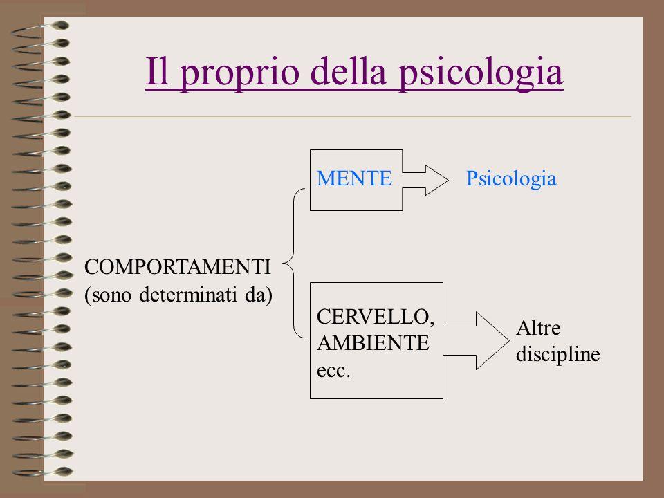 Il proprio della psicologia