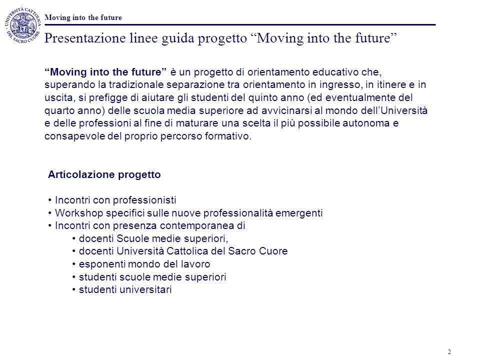 Presentazione linee guida progetto Moving into the future