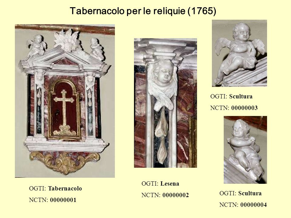 Tabernacolo per le reliquie (1765)