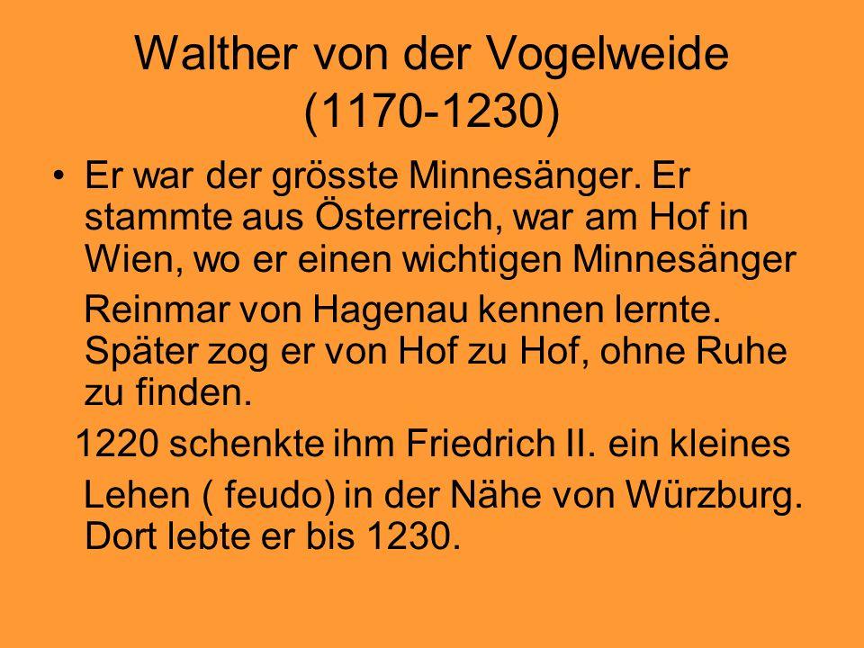 Walther von der Vogelweide (1170-1230)