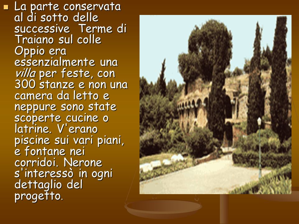 Domus aurea ppt video online scaricare for Camera da letto principale al piano di sotto