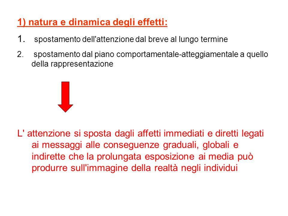 1) natura e dinamica degli effetti: