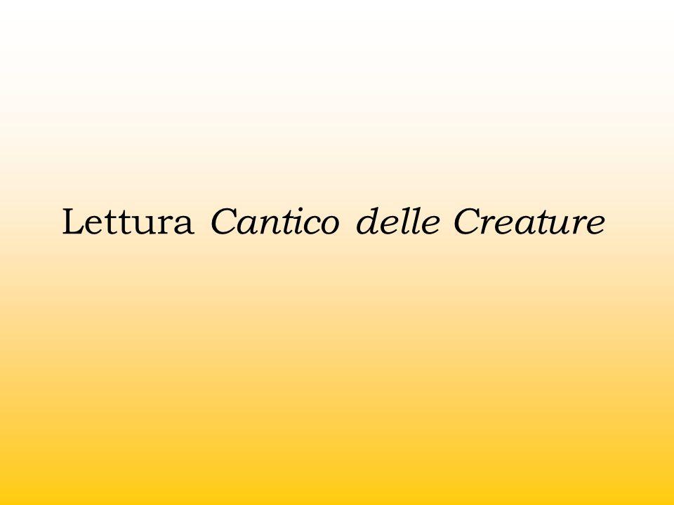 Lettura Cantico delle Creature
