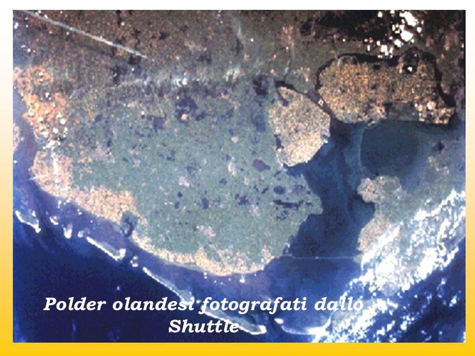 Polder olandesi fotografati dallo Shuttle
