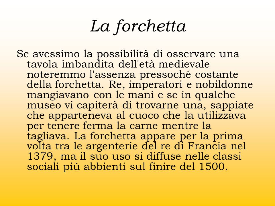 La forchetta