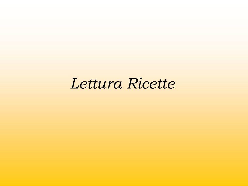 Lettura Ricette