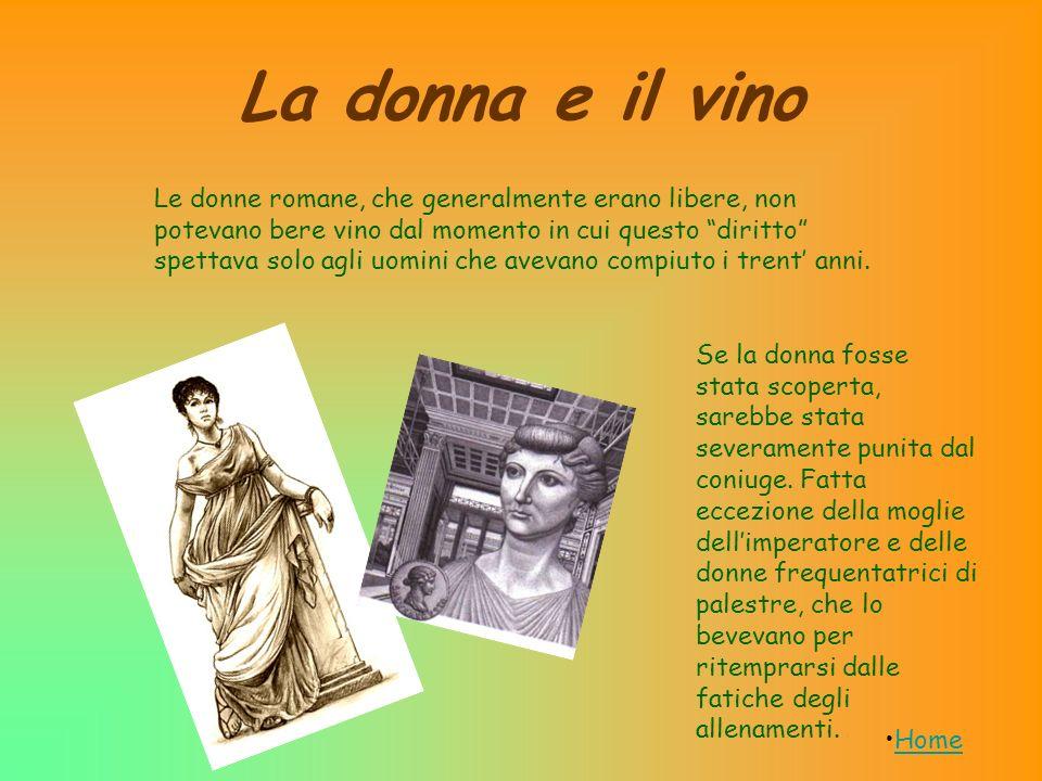 La donna e il vino