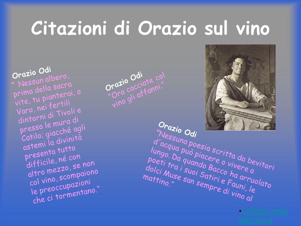 Citazioni di Orazio sul vino
