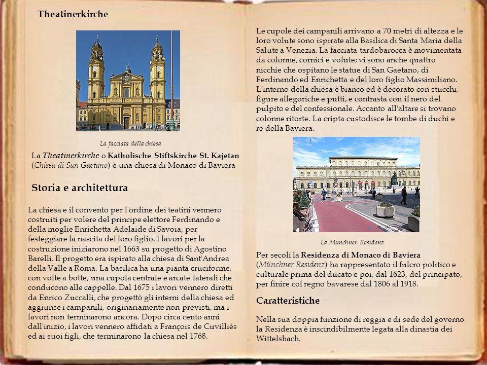 Storia e architettura Theatinerkirche Caratteristiche