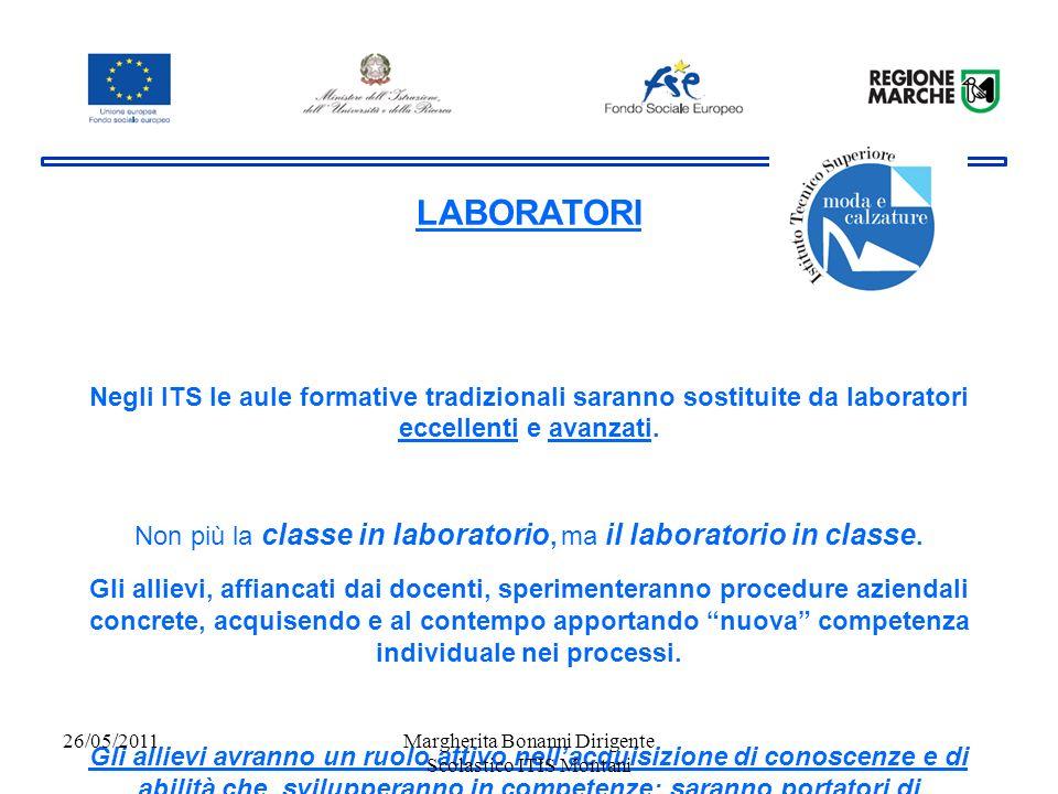 LABORATORI Negli ITS le aule formative tradizionali saranno sostituite da laboratori eccellenti e avanzati.