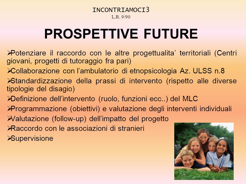INCONTRIAMOCI3 L.R. 9/90 PROSPETTIVE FUTURE