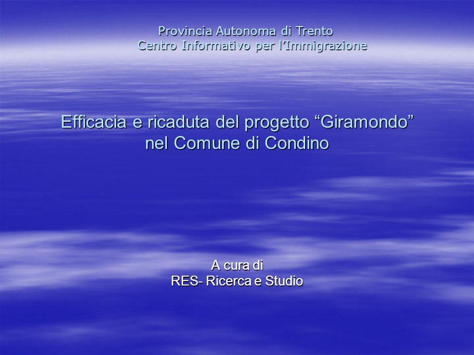 Efficacia e ricaduta del progetto Giramondo nel Comune di Condino