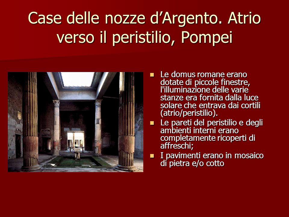 Case delle nozze d'Argento. Atrio verso il peristilio, Pompei