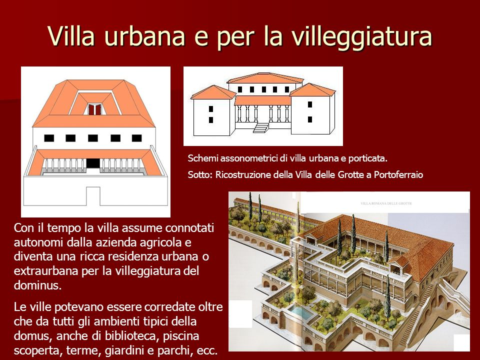 Villa urbana e per la villeggiatura