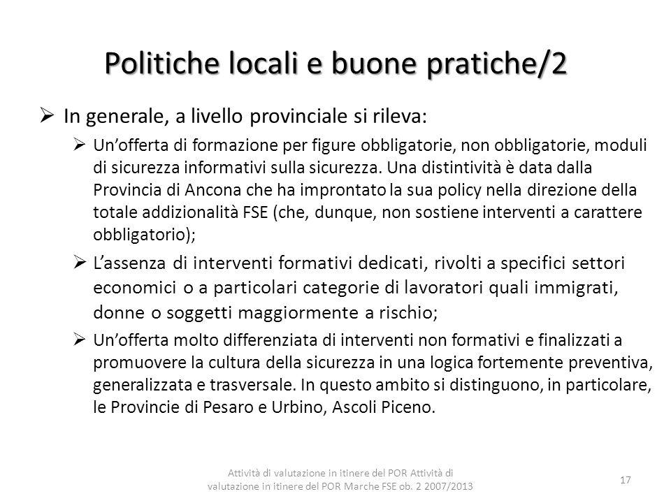 Politiche locali e buone pratiche/2
