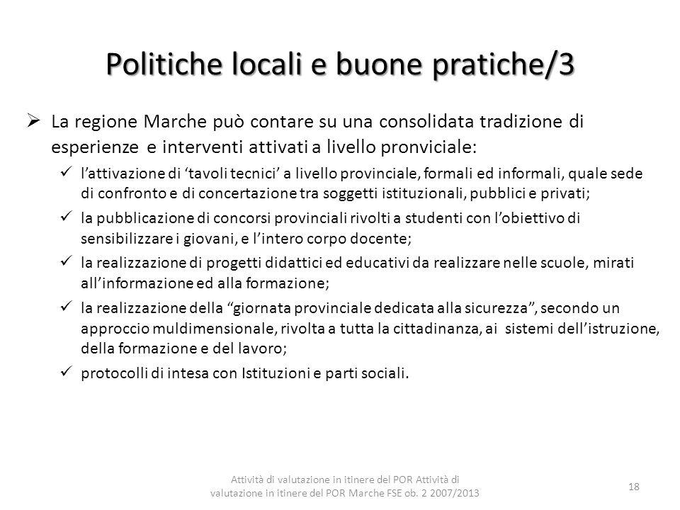 Politiche locali e buone pratiche/3